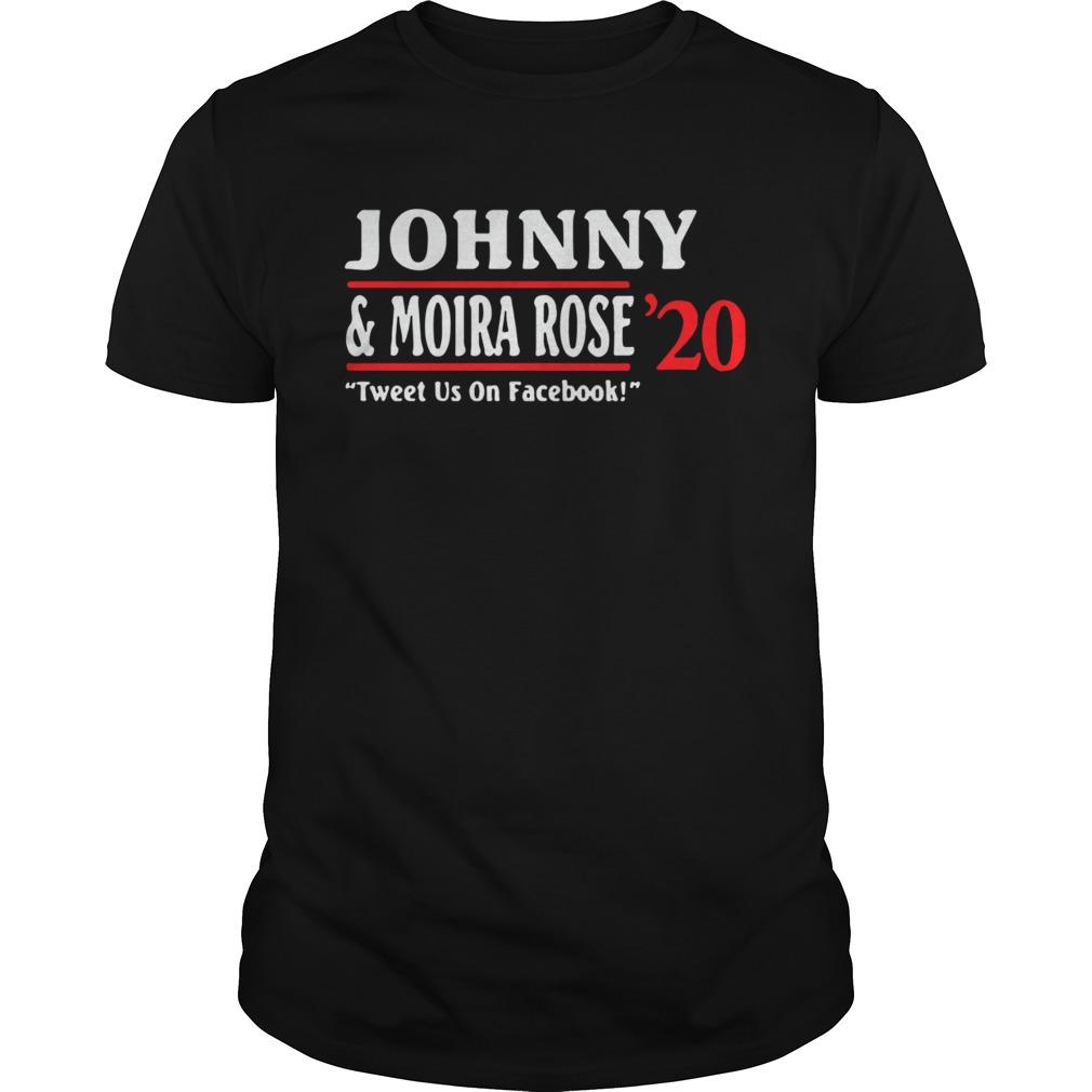 Jonny And Moira Rose 2020 Tweet Us On Facebook shirt Classic Men's