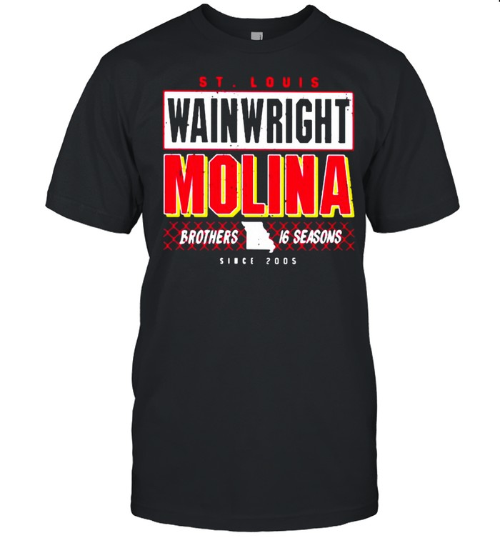 St Louis Wainwright Molina Brothers 16 Seasons shirt Classic Men's T-shirt