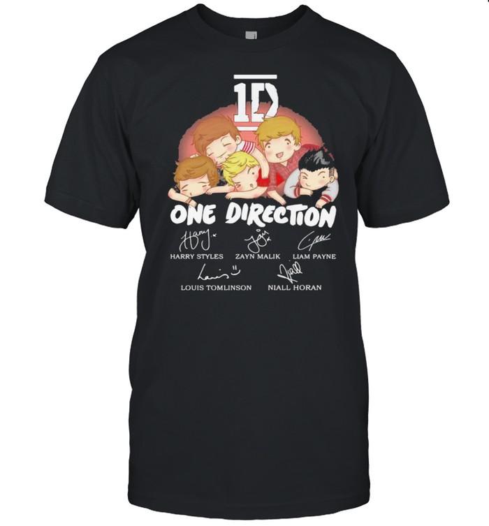 1D One Direction Signature shirt Classic Men's T-shirt