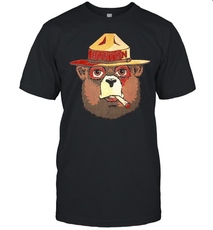 Smokey the bear smoking shirt Classic Men's T-shirt