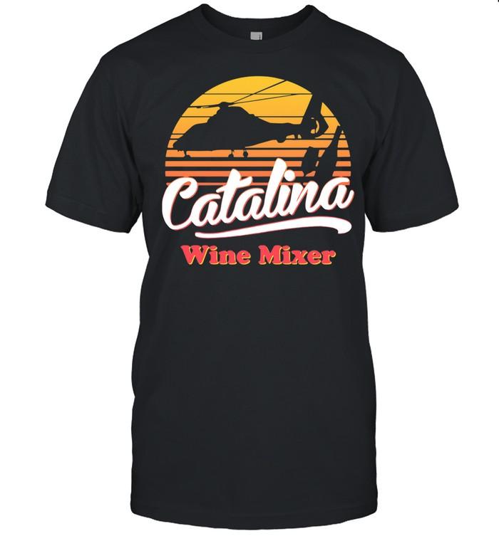 Catalina wine mixer vintage sunset shirt Classic Men's T-shirt