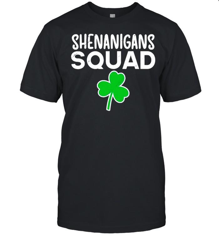 Shenanigans Squad St Patrick's Day Shamrock shirt Classic Men's T-shirt