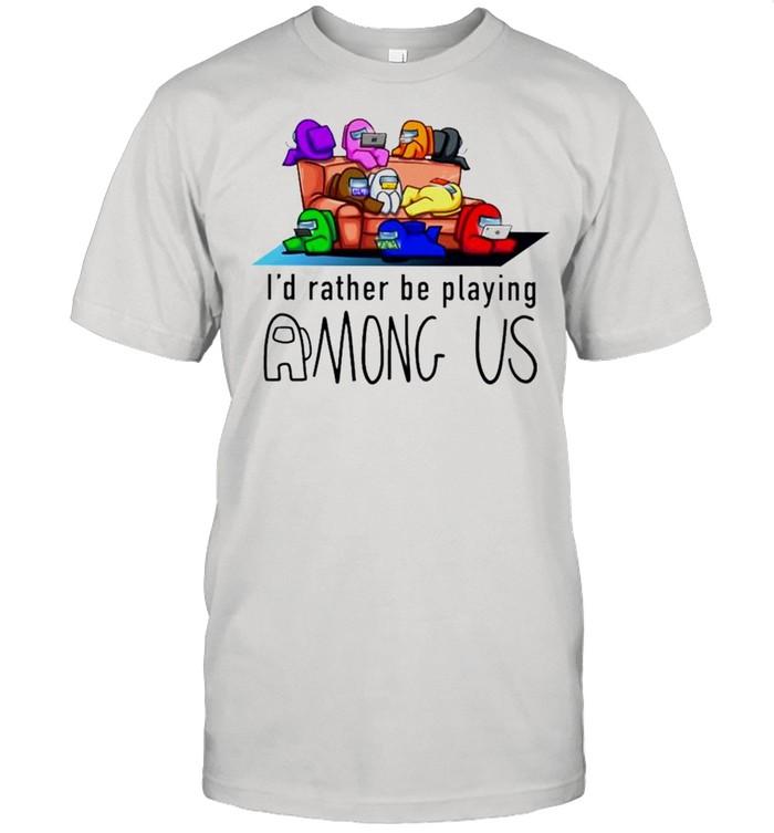 Id rather be playing among us shirt Classic Men's T-shirt