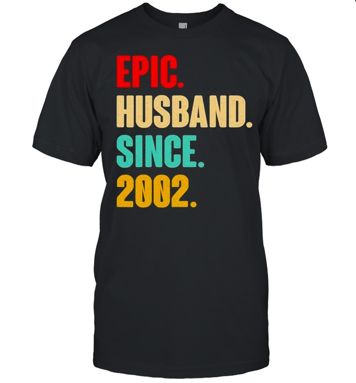 19Th Wedding Anniversary Him Epic Husband Since 2002  Classic Men's T-shirt