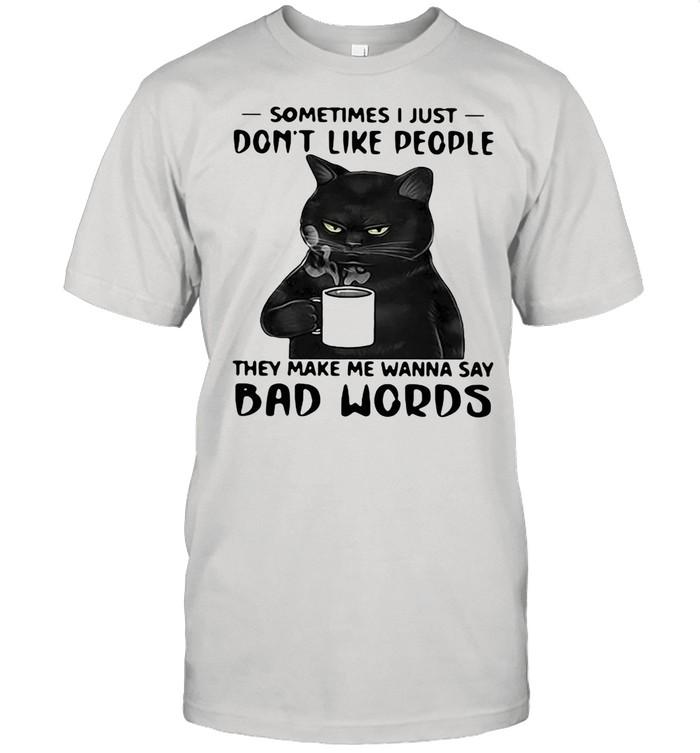 Black Cat Sometimes I Just Do Not Like 7 People  Classic Men's T-shirt