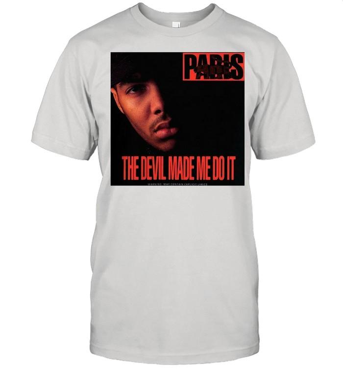 Paris The Devil Made Me Do It T-shirt Classic Men's T-shirt
