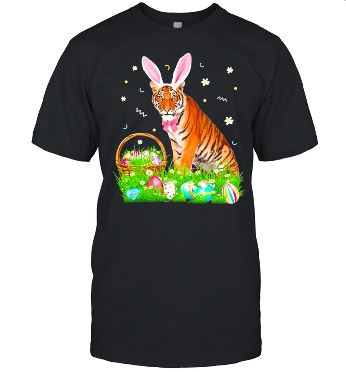 Tiger Easter Day Bunny Eggs Easter Costume shirt Classic Men's T-shirt