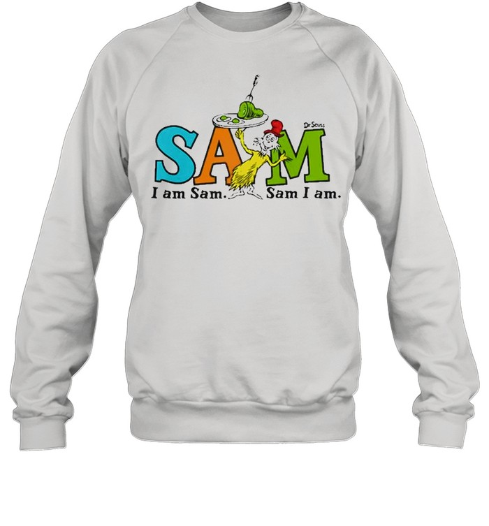 Dr. Seuss Green Eggs And Ham Sam Raglan Baseball  Unisex Sweatshirt
