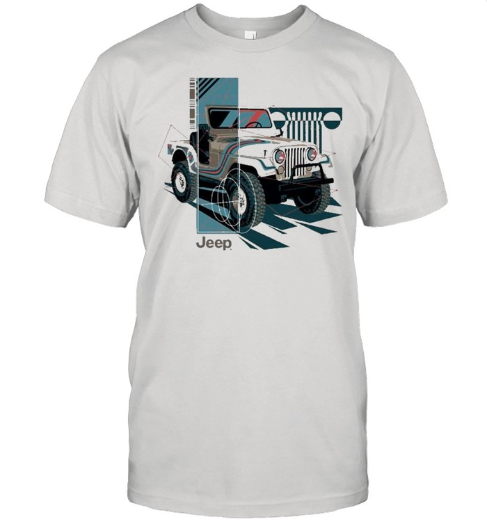 Jeep Wrangler Painted Angles Pullover  Classic Men's T-shirt