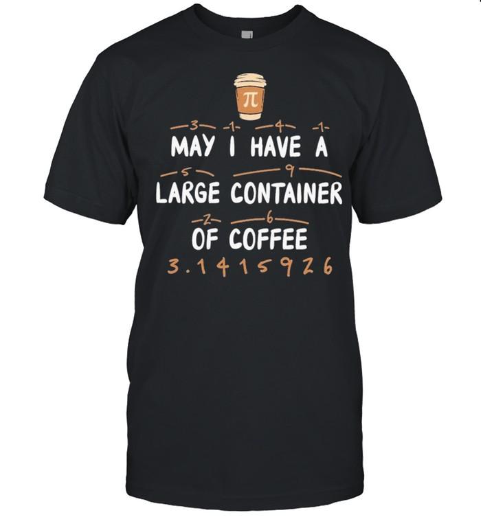 Math Pi Day Pi Mnemonic Of Coffee  Classic Men's T-shirt