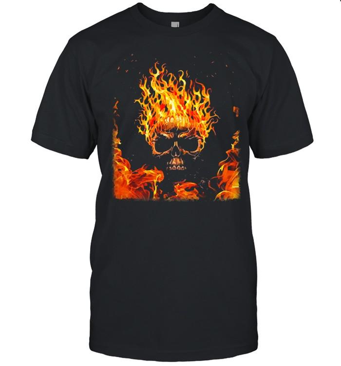 Skull fire shirt Classic Men's T-shirt