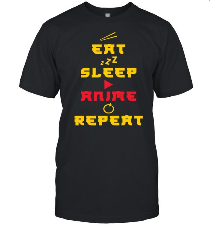 Japanese Eat Sleep Anime Repeat Manga Kawaii Otaku Kanji shirt Classic Men's T-shirt