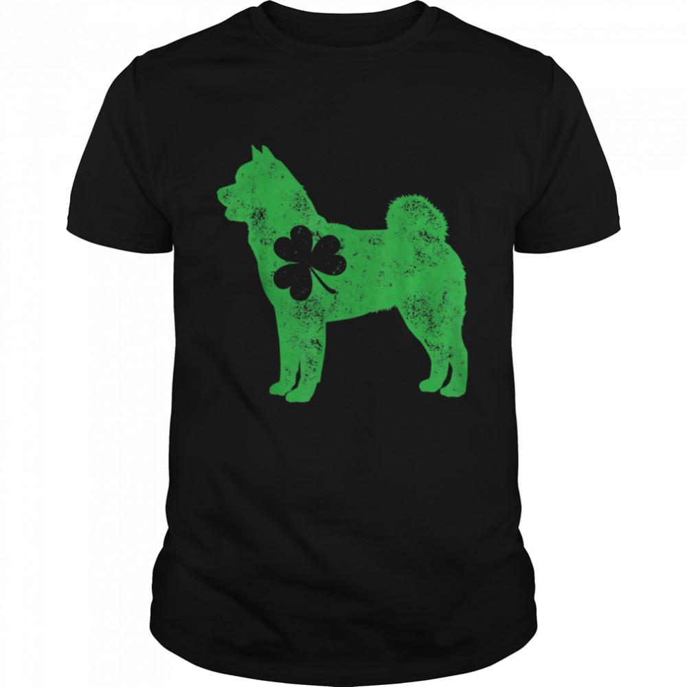 Akita Inu St Patricks Day Boys Girls Shamrock Dog shirt Classic Men's T-shirt