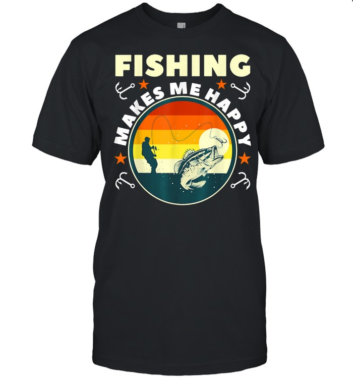 Fishing Make Me Happy shirt Classic Men's T-shirt