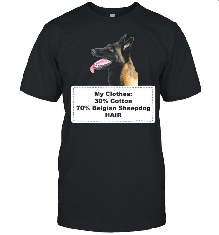 Shedding Dog Belgian Sheepdog shirt Classic Men's T-shirt