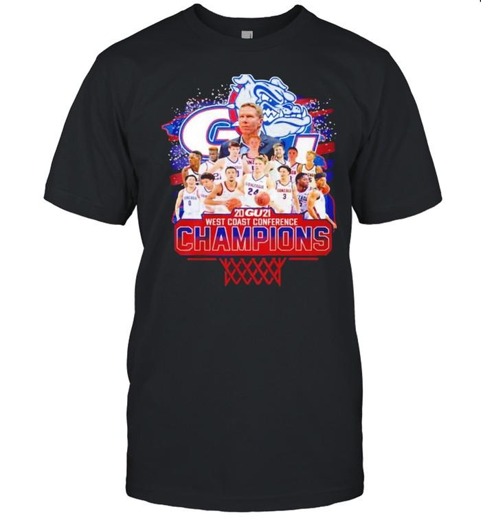 Gonzaga Bulldogs 2021 West Coast Conference Champions shirt Classic Men's T-shirt