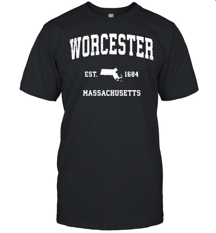 Worcester Massachusetts MA Vintage Athletic shirt Classic Men's T-shirt