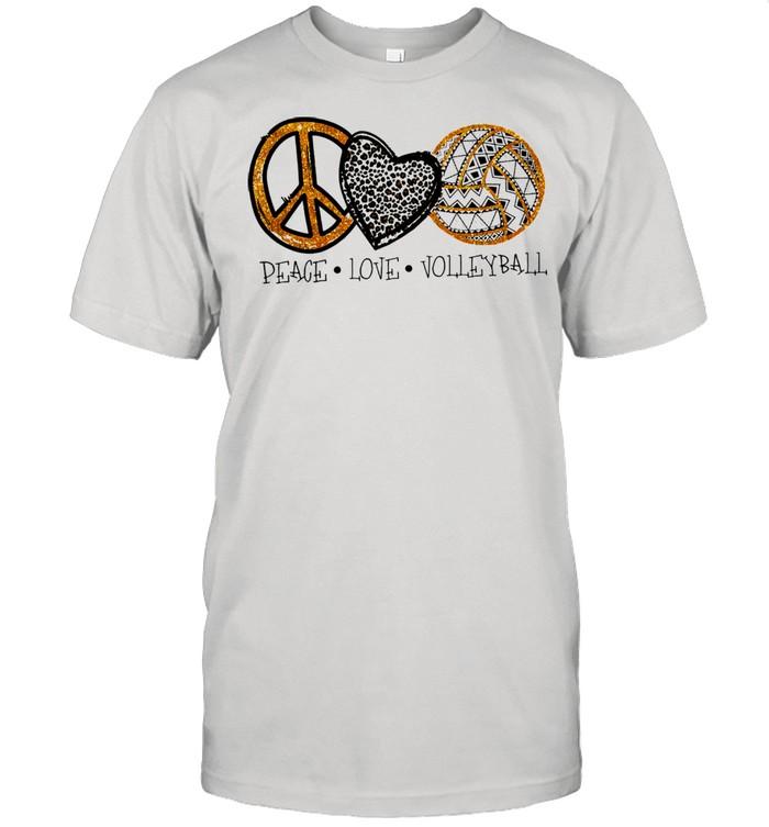 Peace love Volleyball shirt Classic Men's T-shirt