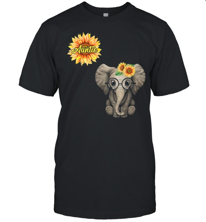 Blessed To Be Called Auntie Hippie Elephant Tshirt Aunt Gift  Classic Men's T-shirt