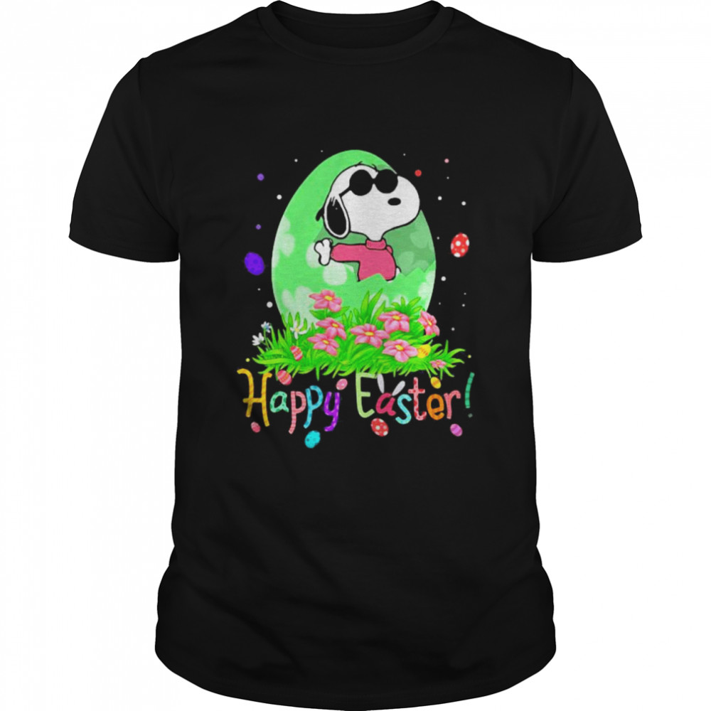 Happy Easter Egg Snoopy  Classic Men's T-shirt