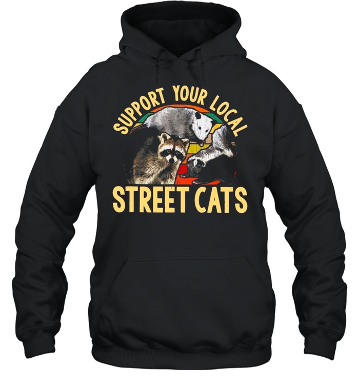 Support Local Street Cats Vintage shirt Unisex Hoodie