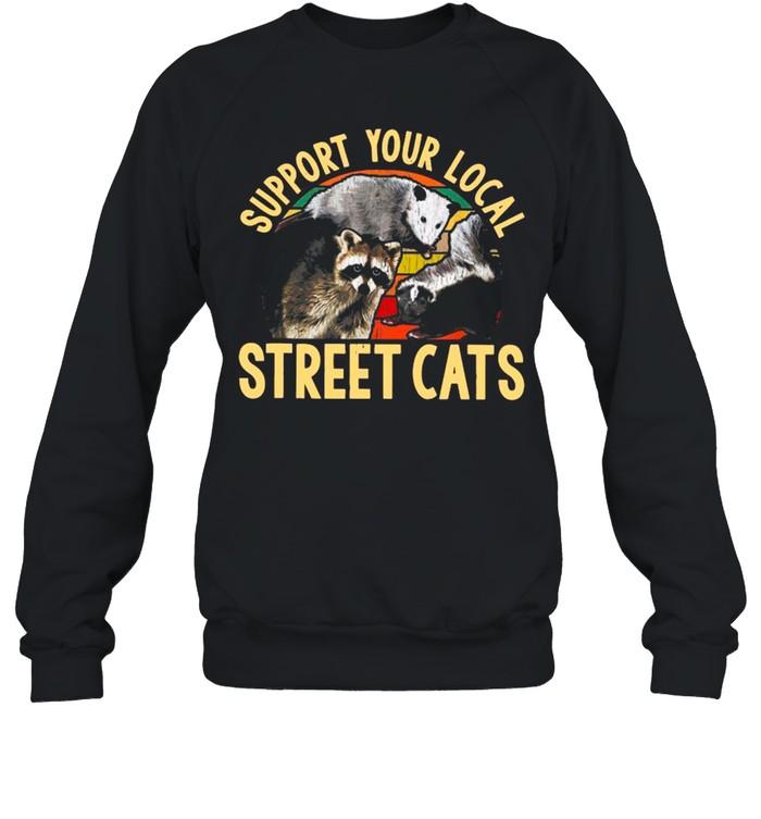 Support Local Street Cats Vintage shirt Unisex Sweatshirt