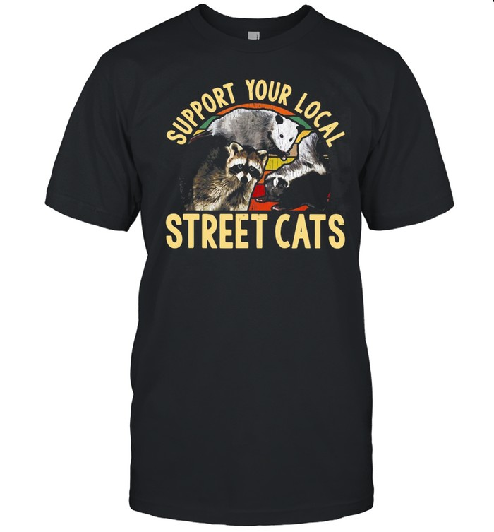Support Your Local Street Cats Vintage T-shirt Classic Men's T-shirt