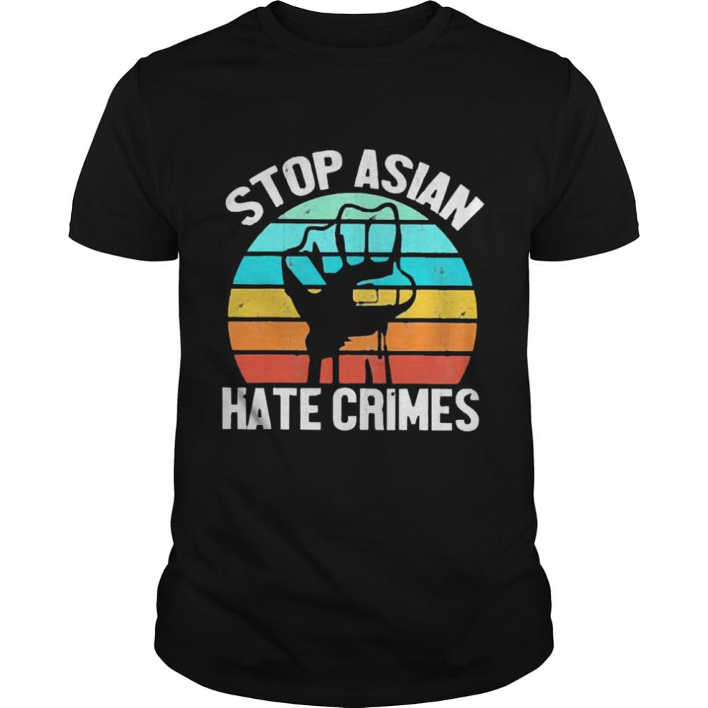 Aapi stop asian hate crimes vintage shirt Classic Men's T-shirt