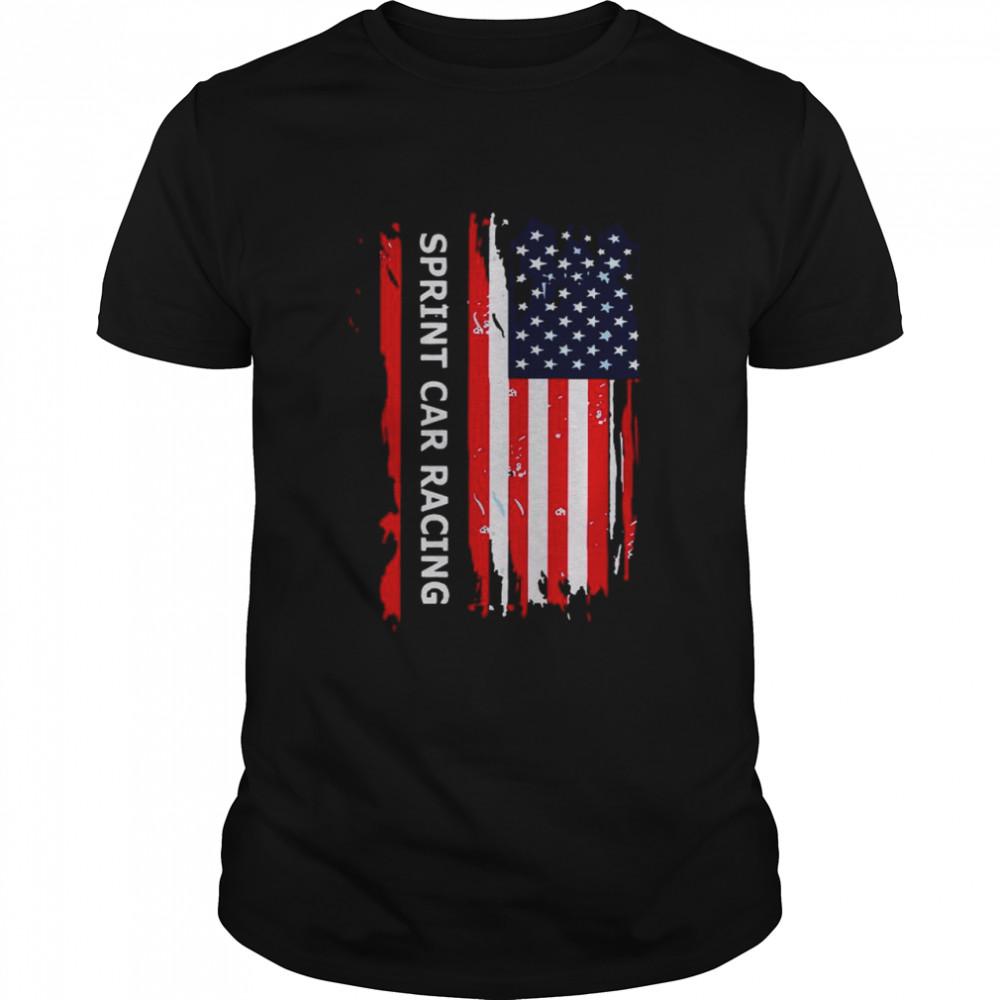 American Flag Sprint Car Racing shirt Classic Men's T-shirt