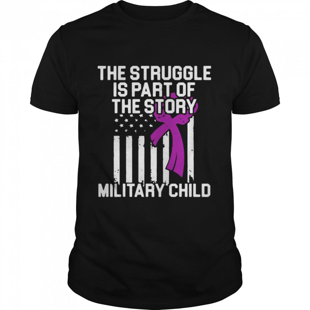 Military Child Month Purple Up Story T-shirt Classic Men's T-shirt