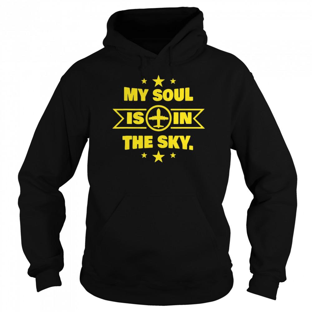 Novelty Pilot Co Pilot Soul In The Sky T-shirt Unisex Hoodie