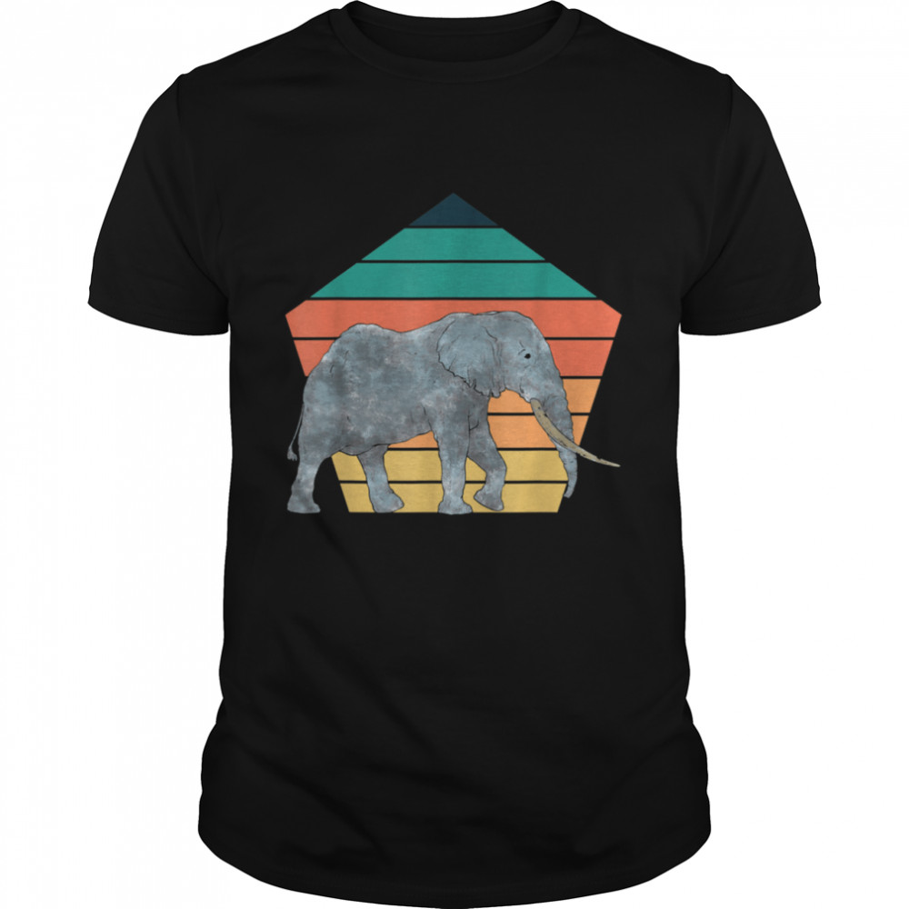 Wildlife Africa Safari Retro Zoo Animal Elephant  Classic Men's T-shirt