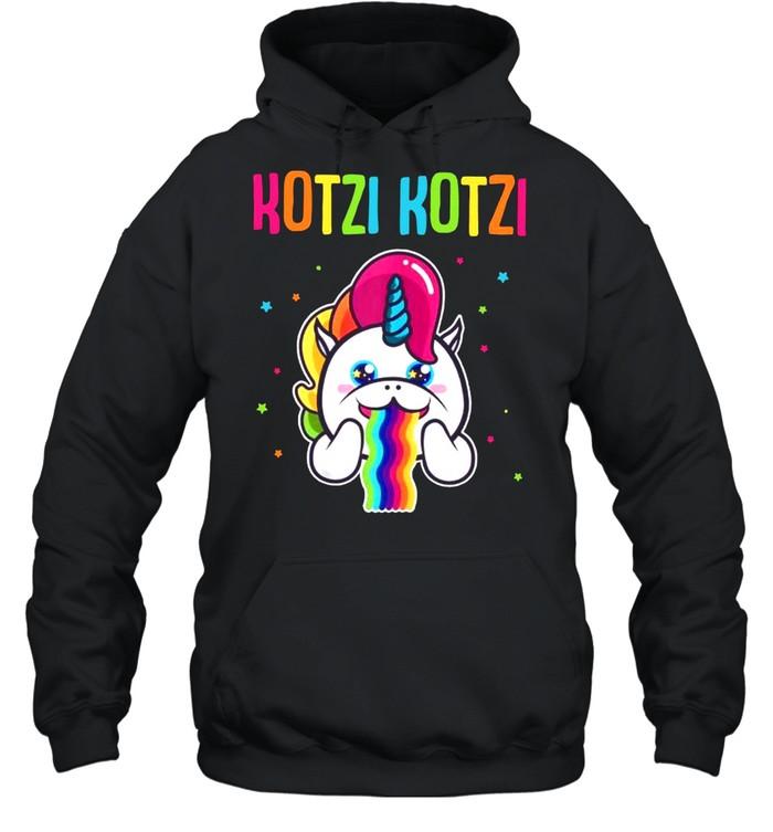 Kotzi Kotzi Einhorn Bier Wein Sauf Motto Party  Unisex Hoodie