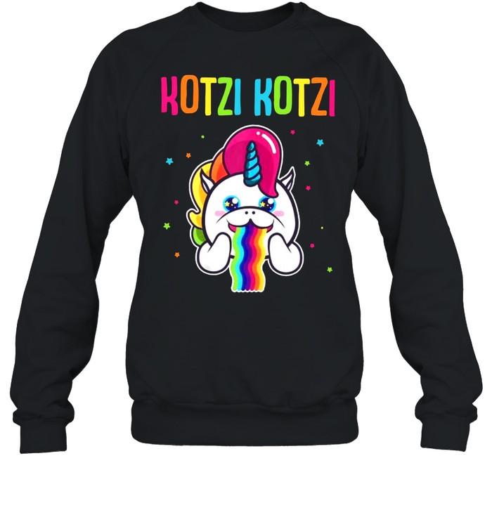 Kotzi Kotzi Einhorn Bier Wein Sauf Motto Party  Unisex Sweatshirt