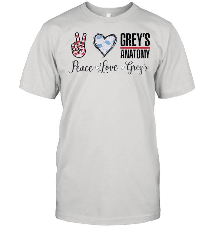 Peace Love Greys Anatomy 2021 shirt Classic Men's T-shirt