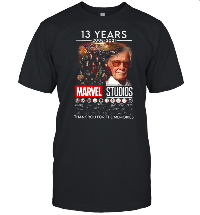 13 Years 2008 2021 Marvel Studios Thank You For The Memories shirt Classic Men's T-shirt