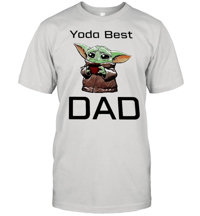 Baby Yoda Hug Coffee Best Dad  Classic Men's T-shirt