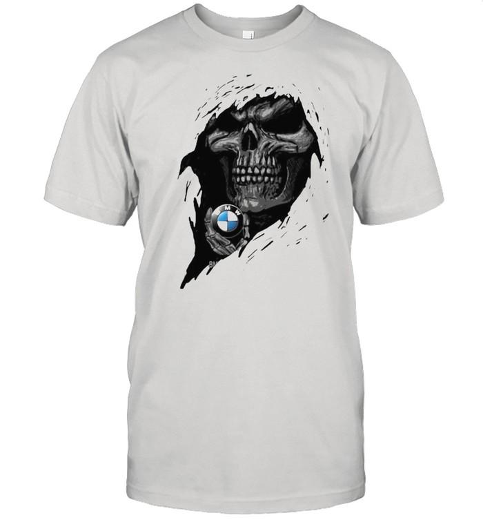 Skull with BMW motorrad logo shirt Classic Men's T-shirt