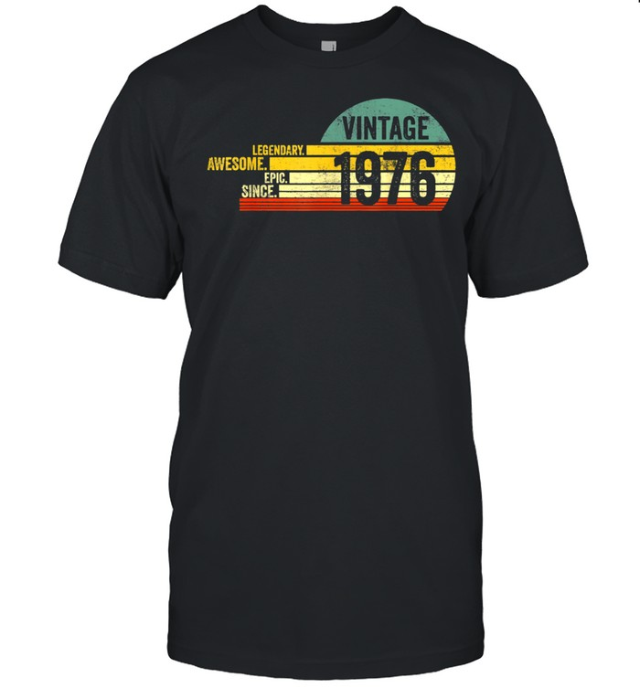 Vintage Awesome Birthday 1976  Classic Men's T-shirt