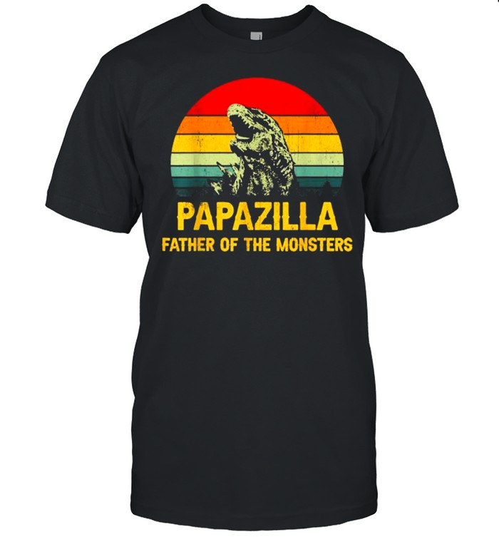 Papazilla Father Of The Monsters Vintage Father's day T- Classic Men's T-shirt