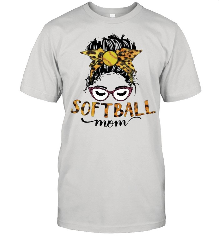 Softball Mom Lepoard  Classic Men's T-shirt