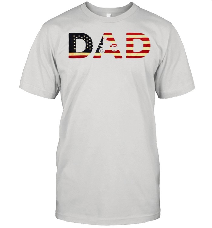 Biker Father – Patriotic Bike Rider Independence Day T- Classic Men's T-shirt