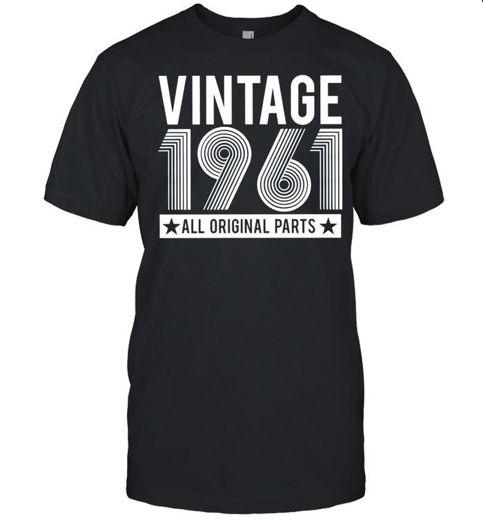 60th Birthday day gift, Vintage 1961 all original parts shirt Classic Men's T-shirt