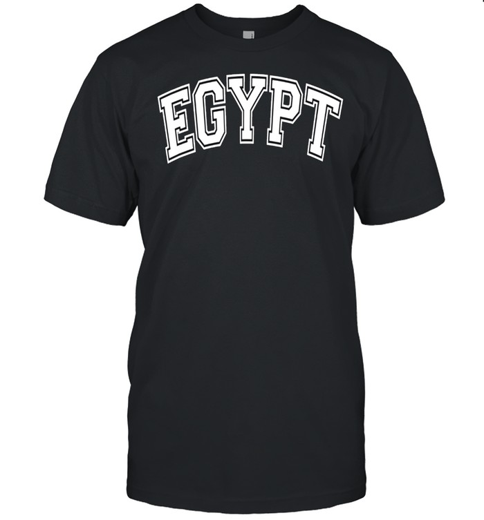 Egypt Varsity Style Pink with White Text shirt Classic Men's T-shirt