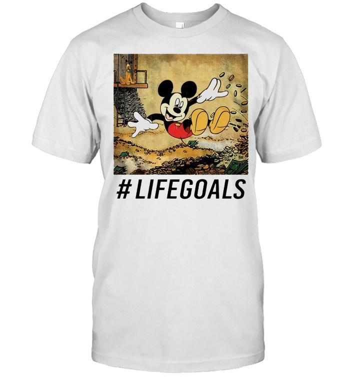 Mickey mouse life goals shirt Classic Men's T-shirt