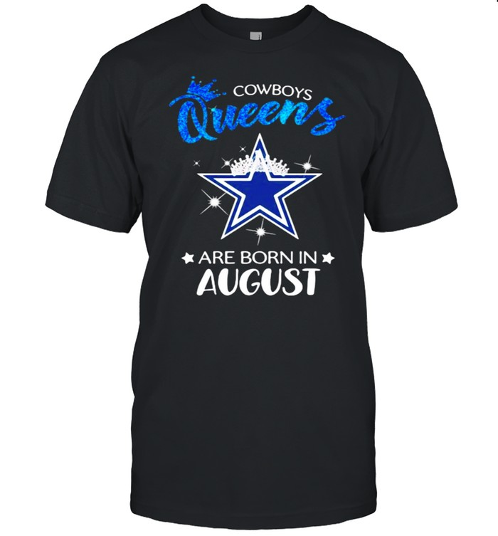 Cowboy Queens Are Born In August Blue  Classic Men's T-shirt
