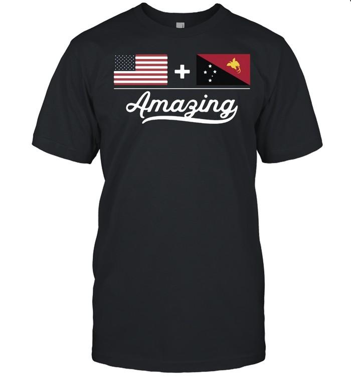 American Papua New Guinea Amazing Flag T-shirt Classic Men's T-shirt