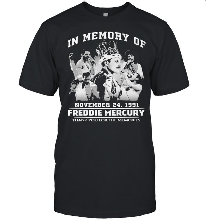 In memory of november 24 1991 freddie mercury thank you for the memories shirt Classic Men's T-shirt
