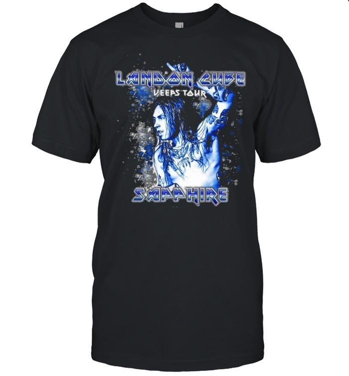 Landon Cube Keeps Tour Sapphire T-shirt Classic Men's T-shirt