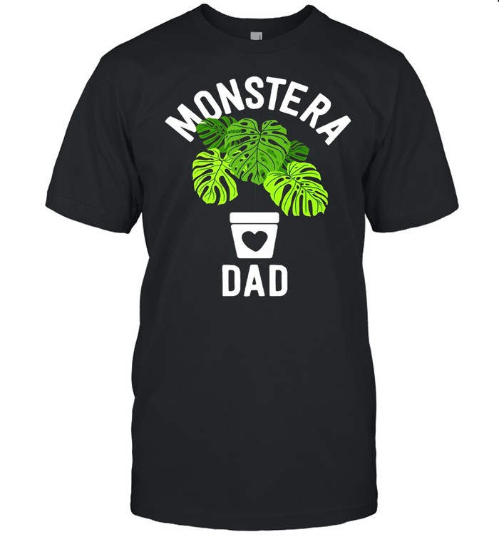 Fathers Day Monstera Dad Plant Dad Gifts Plant Daddy T-shirt Classic Men's T-shirt